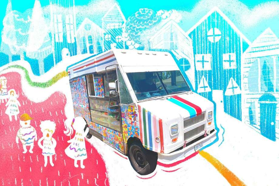 Similar to other businesses in the food industry, ice cream trucks have been required to change day-to-day operations as they adapt to the new normal. Photo: Victoria Jones