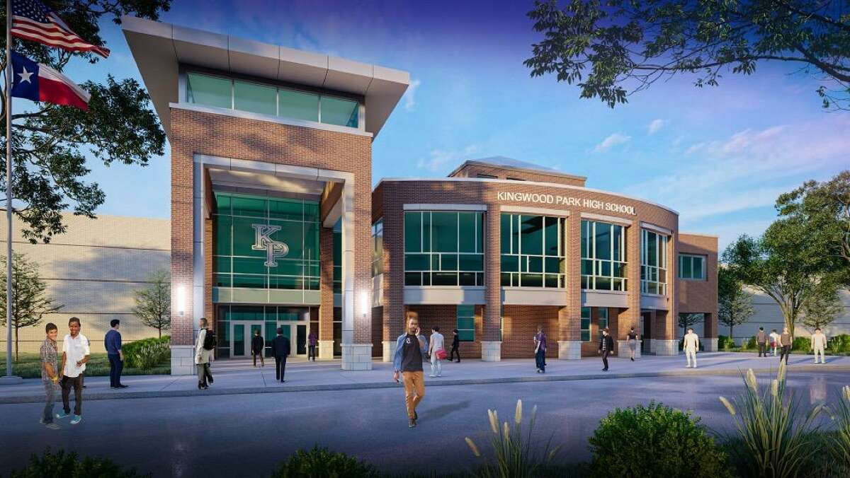 Kingwood Park High School will have a new gym entrance, tiny homes workshop and office space, new gym, new culinary CTE lab, new courtroom and classroom and a renovated main entry.