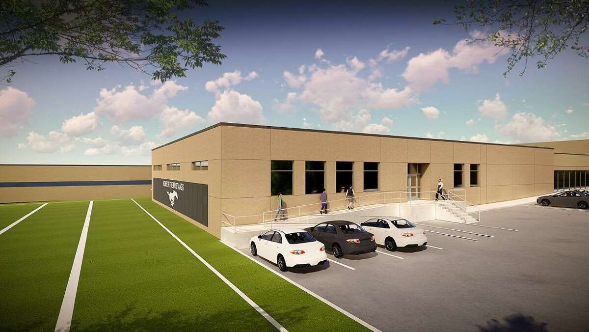 Kingwood High School improvements include a new entryway, gym, canopies, and a new nursing CTE edition with a driveway.