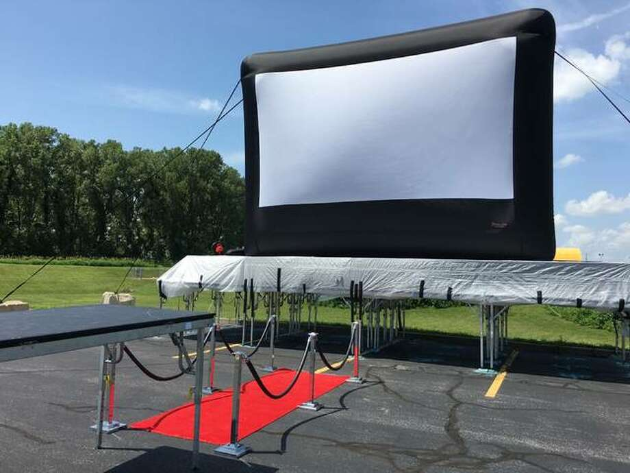 """The city of Collinsville transformed the Gateway Convention Center parking lot into a drive-in movie theater. This Saturday the movie """"The Secret Life of Pets 2"""" will be shown."""