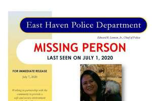 A poster regarding Lizzbeth Aleman-Popoca, who had been missing since July 1, 2020.