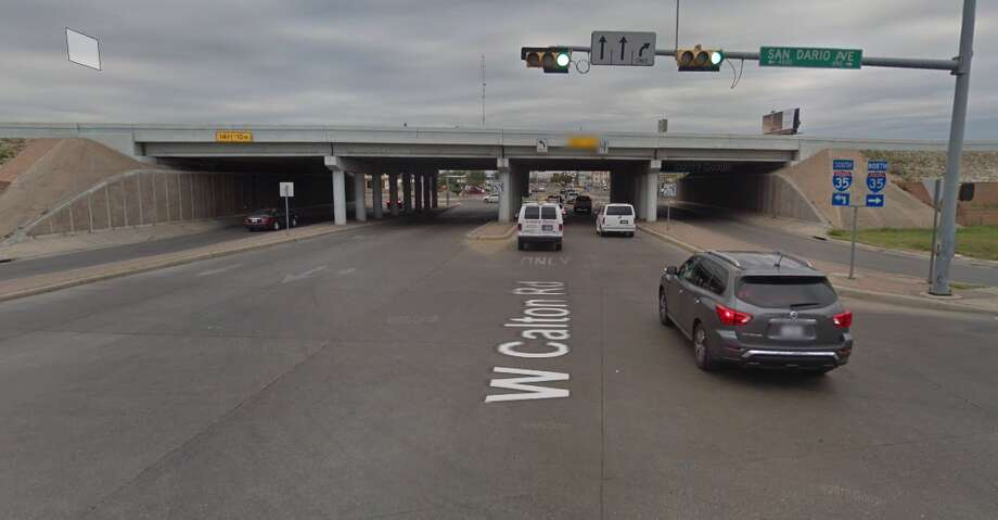 """First responders were dispatched to a """"man down"""" report by the intersection of I-35 and Calton Road. Laredo Fire Department crews lowered him from atop the nook in the overpass. Photo: Google Maps/Street View"""