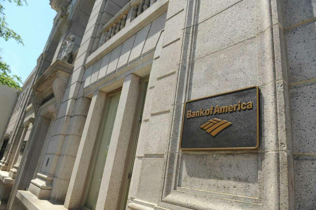 A Bank of America branch on Greenwich Avenue in Greenwich, Conn.