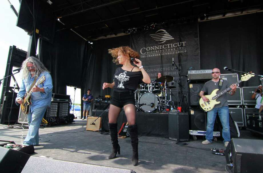 Baby Dynamite performs during the Blues on the Beach concert at Short Beach in Stratford, Conn. on Saturday July 28, 2018. Photo: Christian Abraham / Christian Abraham / Connecticut Post