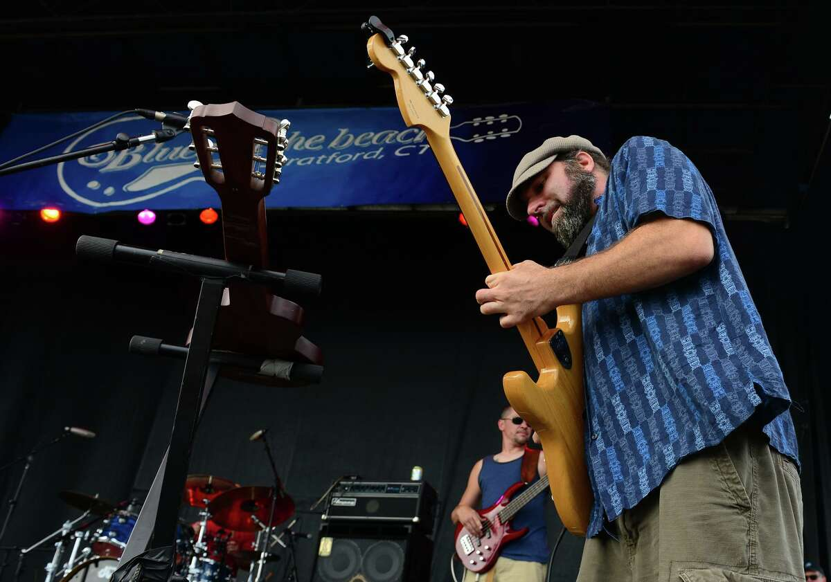 Matt Miklus, of the Alpaca Gnomes, performs during the Blues on the Beach music festival at Short Beach Park in Stratford, Conn. on Saturday July 26, 2014.