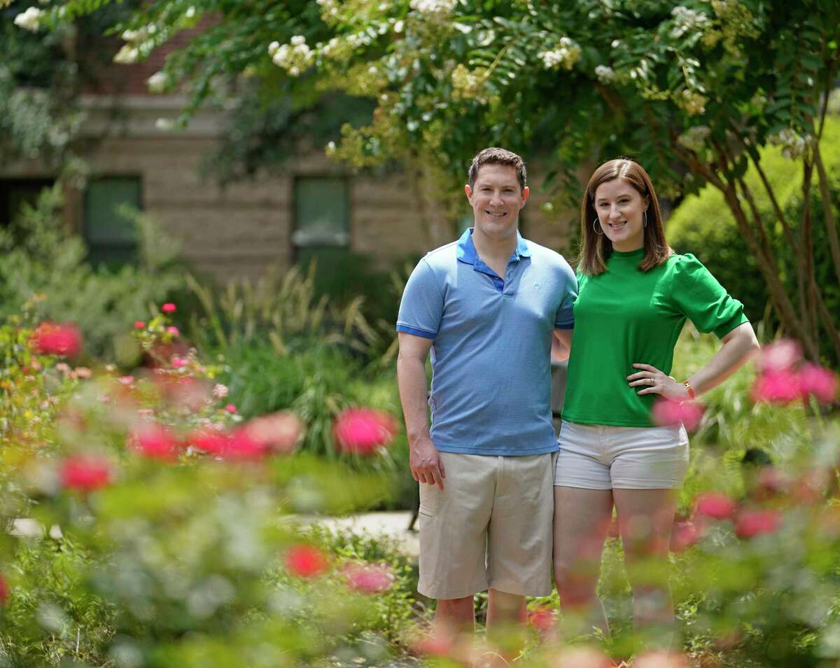 Brendan Moore and his wife, Meredith Moore recently moved to The Woodlands from New York City shown Sunday, June 21, 2020. They plan to buy a home.