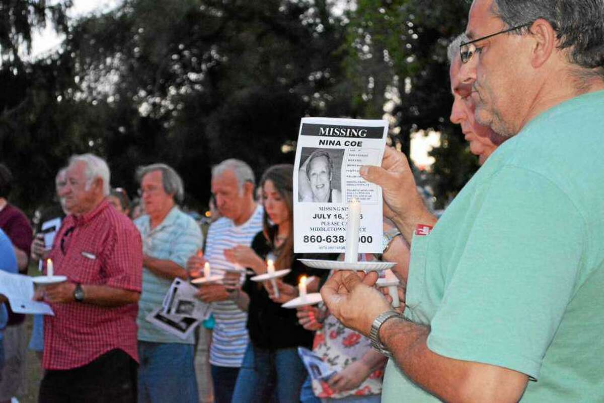 It's been five years since resident Nina Coe, 56, went missing July 16, 2015. Here, her family holds a vigil on the Middletown South Green to recall her and try and renew interest in her case.