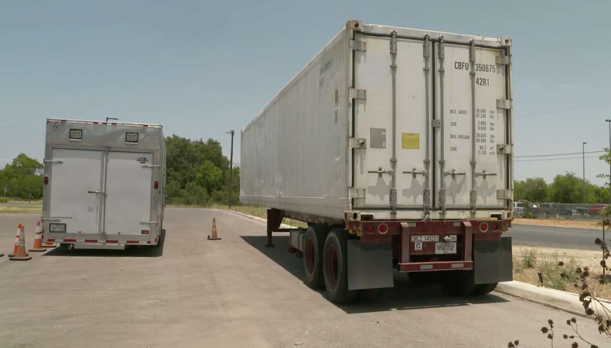 San Antonio officials have secured refrigerated trailers for hospitals to store bodies until they can be released to funeral homes.