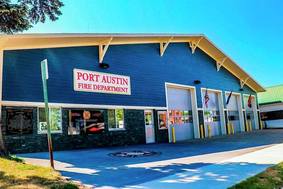 The newly renovated Port Austin Fire Department fits in nicely with other buildings in Port Austin and debuted a memorial honoring past local firemen. (Motions Media/Courtesy Photo)
