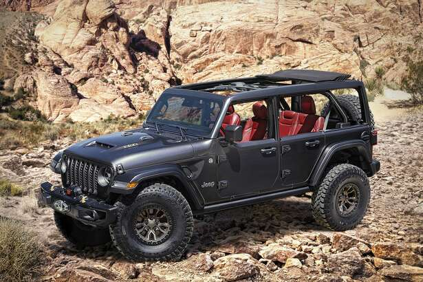 The Jeep brand has introduced its new Wrangler Rubicon 392 Concept, powered by a 6.4-liter (392-cubic-inch) V-8 engine that delivers 450 horsepower and 450 lb.-ft. of torque, and a 0-60 mph time of less than five seconds.