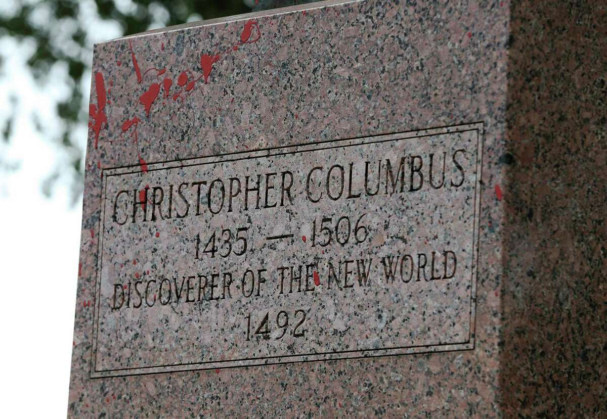 The Christopher Columbus statue located in the Piazza Di Columbo or also called Columbus Park located off Martin Street in downtown was vandalized with red paint on Thursday, June 25, 2020. In the weeks following protests calling for police reform after the death of African-American George Floyd, activists have also made a call to remove statues most notably of Civil War Confederate figures. But some have also called for statues like the Columbus statue to also be removed. The statue that was vandalized had been brought up for consideration for removal by District 1 Councilman Robert Trevino. The statue was donated by the Christopher Columbus Society in 1957. The name of the park is also under consideration to be renamed.