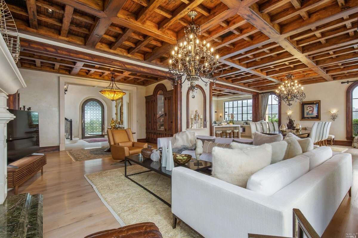 The wood beams in the main entertaining space came from an ancient Spanish monastary.