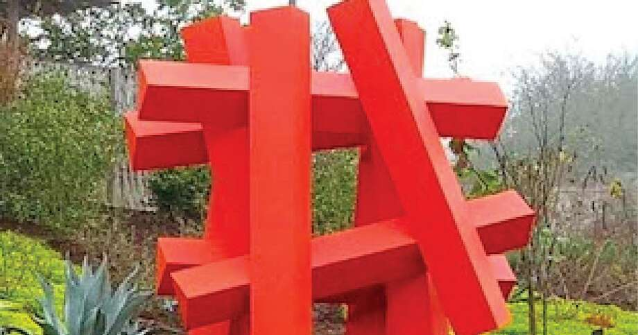 "Alejandro Martin's 2019 painted metal sculpture ""Hashtag-Orange"" has been added to the McNay Art Museum's collection. It will be displayed on the grounds beginning in August. Photo: Alejandro Martin"