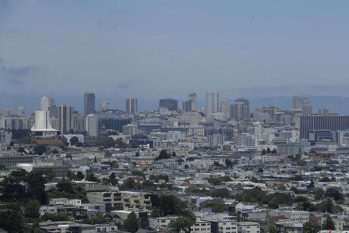 The skyline is shown in San Francisco, Saturday, June 20, 2020. (AP Photo/Jeff Chiu)