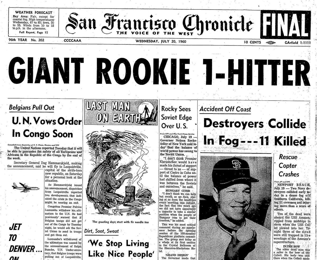 July 20, 1960, San Francisco Chronicle cover