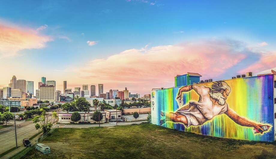 """UP Art Studio recently released the Houston Mural Map, an online street guide that offers details on where to find more than 500 murals and 250 """"Mini Murals"""" across Houston. Photo: Courtesy UP Art Studio"""