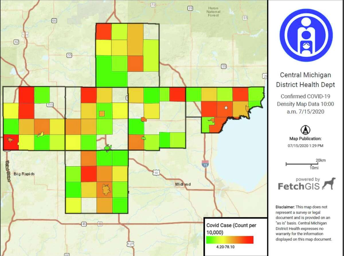 Osceola County confirmed five new cases on Monday, according to the Central Michigan District Health Department. Twenty Osceola County individuals have recovered from COVID-19 and zero deaths have been reported.
