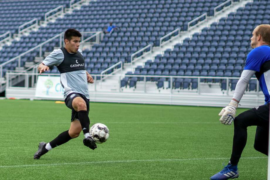 Alfonso Vazquez, who scored a state record 149 goals in the last four seasons at Windham High, begins his pro soccer career with the Hartford Athletic Photo: Contributed Photo / Hartford Athletic