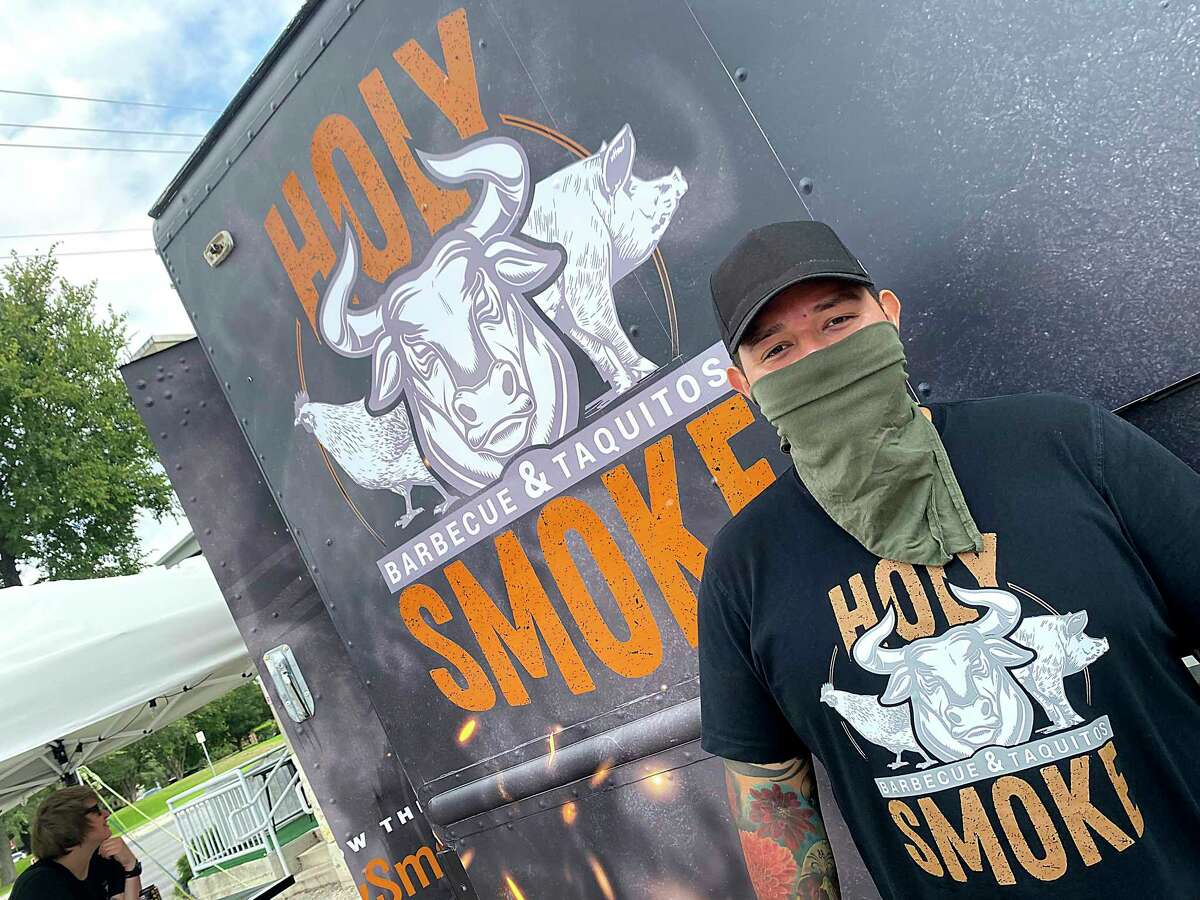 David Romero of Holy Smoke Barbecue + Taquitos has rolled out a second truck, this one stationed on Broadway at The Growler Exchange.