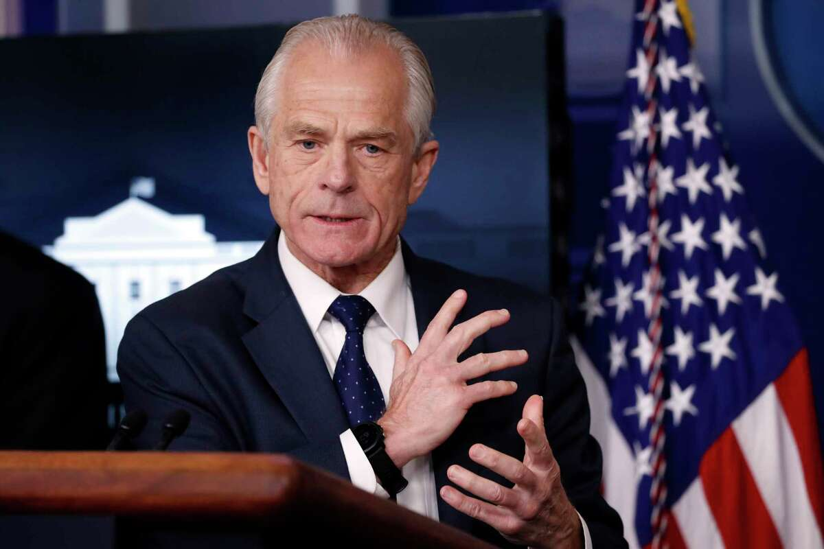 White House trade adviser Peter Navarro, who is now serving as national defense production act policy coordinator, speaks in the James Brady Press Briefing Room of the White House in Washington on April 2. USA Today says that Navarro's column about Dr. Anthony Fauci that it solicited and published did not meet its fact-checking standards. Navarro's column, saying that the nation's top infectious disease expert had been wrong about everything he had interacted with him on, ran in Wednesday's newspaper and online a night earlier. USA Today also ran a fact-checking column debunking some of Navarro's claims.