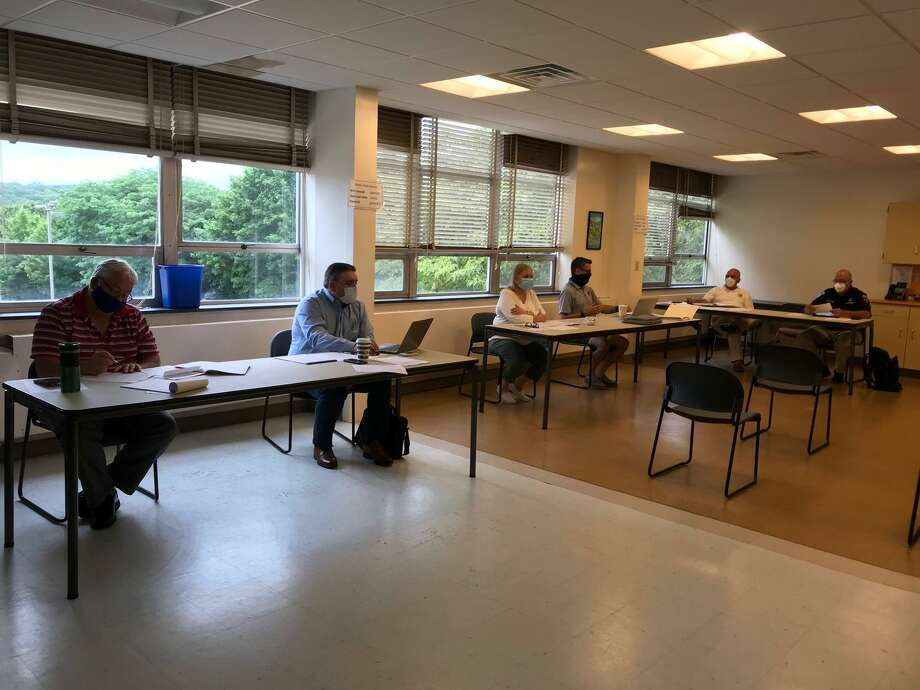 The ReOpen Shelton Committee met July 10 to continue finalizing plans to reopen schools in the fall. A draft plan will go before the Board of Education July 22. Photo: Contributed Photo / Connecticut Post