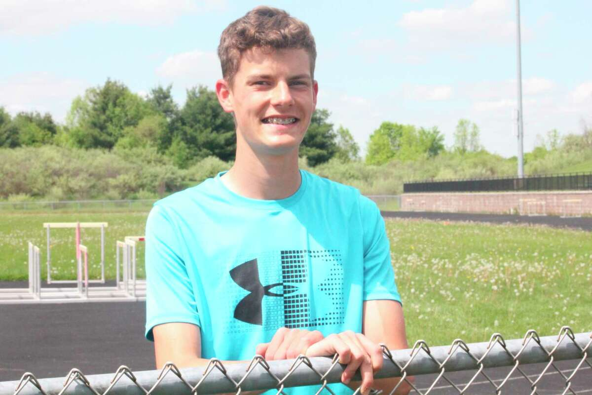 Casey Bouman, pictured during his Big Rapids track career, will be a sophomore runner at Ferris this fall. (Pioneer file photo)