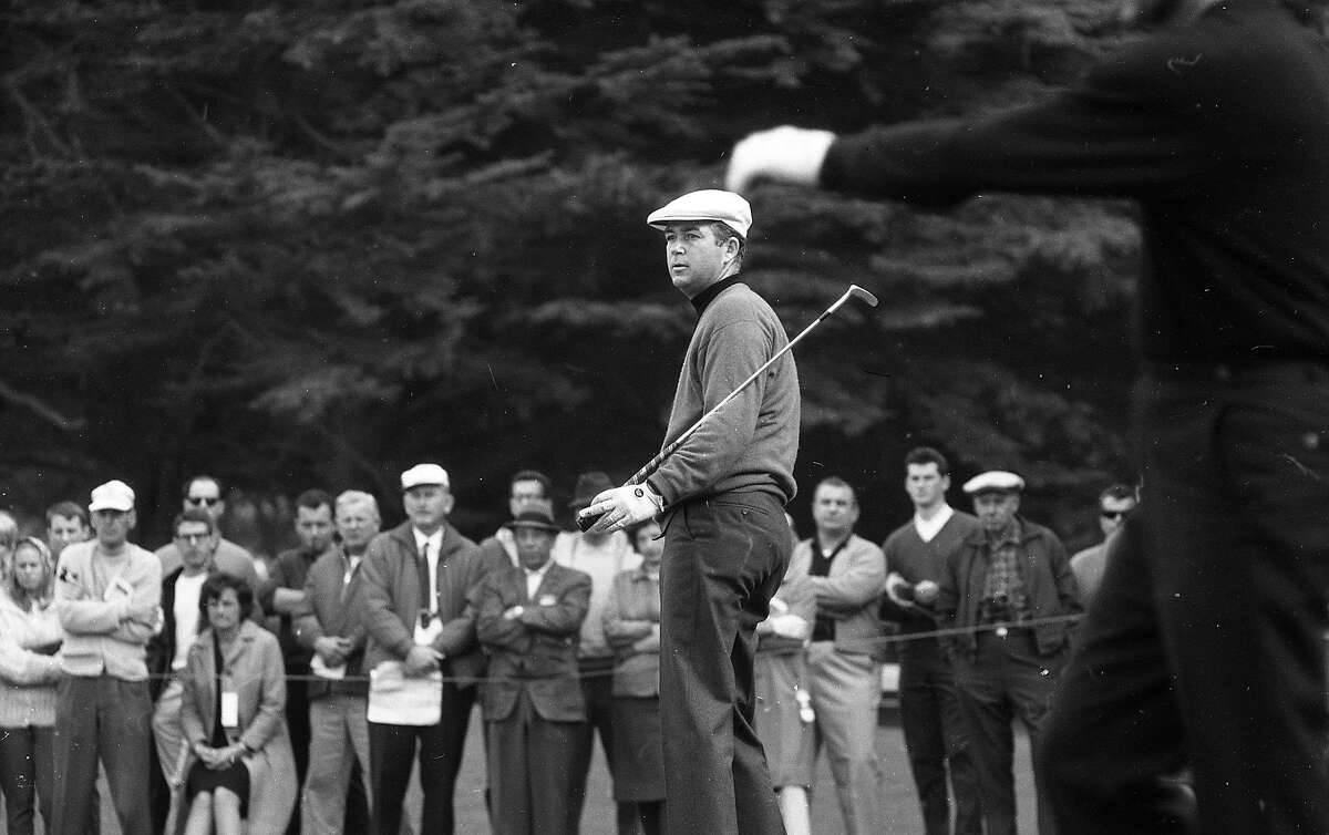 Ken Venturi (center) would charge ahead on the final day to win the Lucky Invitational Golf Tournament at Harding Park , January 31, 1966