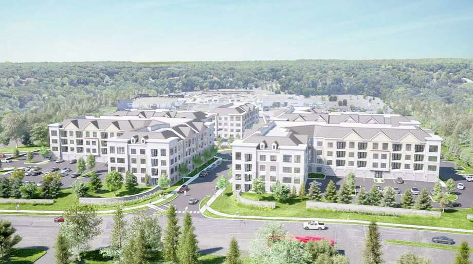 An artist rendering of the proposed Residences at Main apartment complex between Westfield Trumbull mall and the Merritt Parkway. Photo: Contributed / Trumbull Planning And Zoning Commission