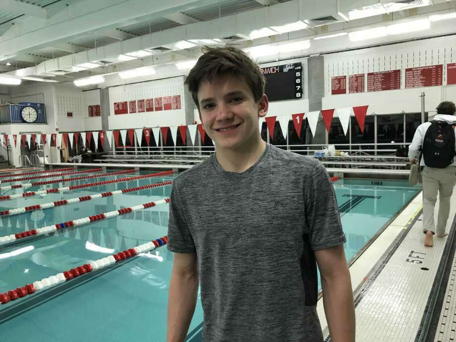 Whitaker Grover, a rising Greenwich High School sophomore, earned boys high school All-America diving honors. Photo: David Fierro /Hearst Connecticut Media