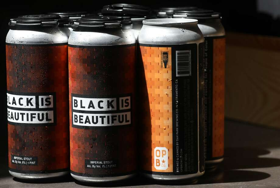 Oak Park's Black is Beautiful imperial stout has strong, complex notes of dark-roast coffee. Photo: Liz Hafalia / The Chronicle