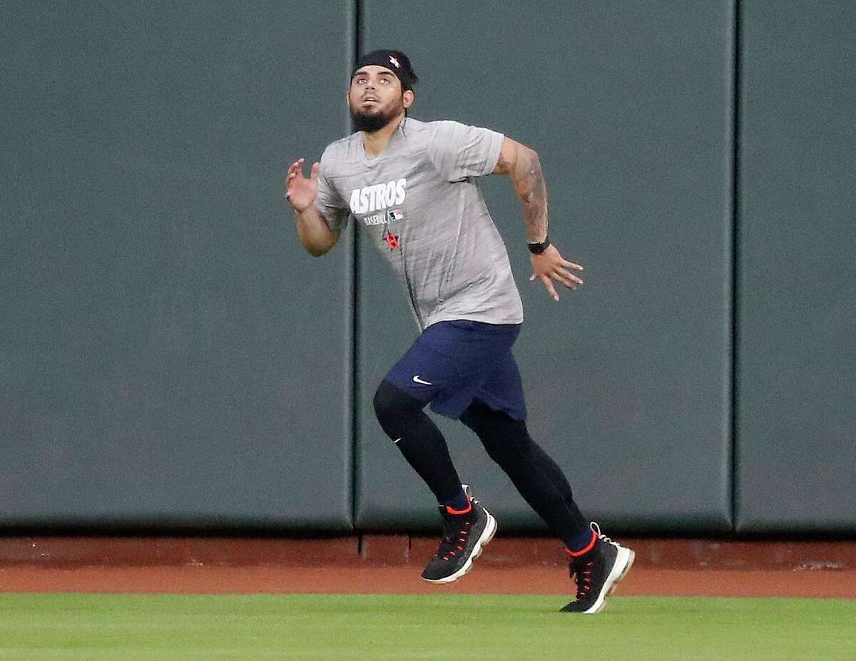 """After reporting late and in what his manager deemed """"fair shape,"""" Astros closer Roberto Osuna has done little more than run during summer camp."""