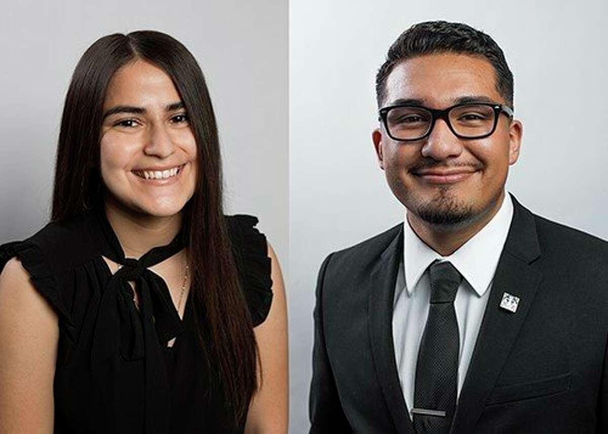 Pictured are Ferris students Veronica Mascorro and Leonardo Almanza. They both were recently offered internship opportunities through ALPFA. (Courtesy photo)
