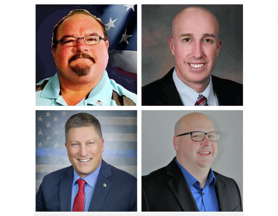 The four Republican candidates running for Mecosta County sheriff are Mark Solis, Brian Miller, James Taylor and Jared Christensen. Photo: Submitted Photo
