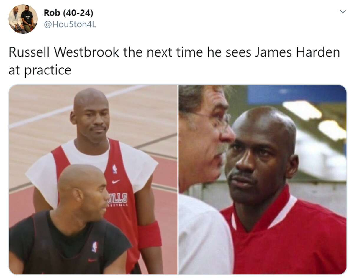Plenty of jokes were made at James Harden's expense after people saw the mask he chose to wear in the NBA Bubble.