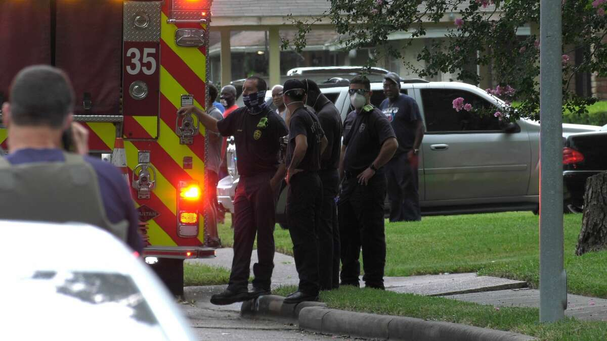 The FBI is on scene of a deadly officer-involved shooting in the 5700 block of Hirondel in southeast Houston on Friday, July 17, 2020.