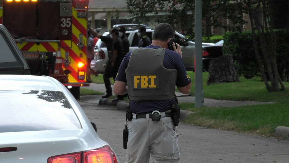 The FBI is on scene of a deadly officer-involved shooting in the 5700 block of Hirondel in southeast Houston on Friday, July 17, 2020. Photo: Jay R. Jordan / Houston Chronicle