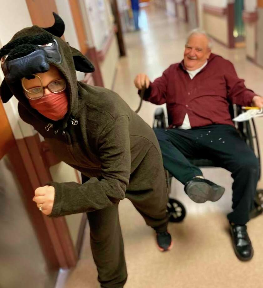 According to Lori, the most rewarding part of being Huron County Medical Care Facility's Director of Activities is seeing the residents smile. (Lori Kozlowski/Courtesy Photo)