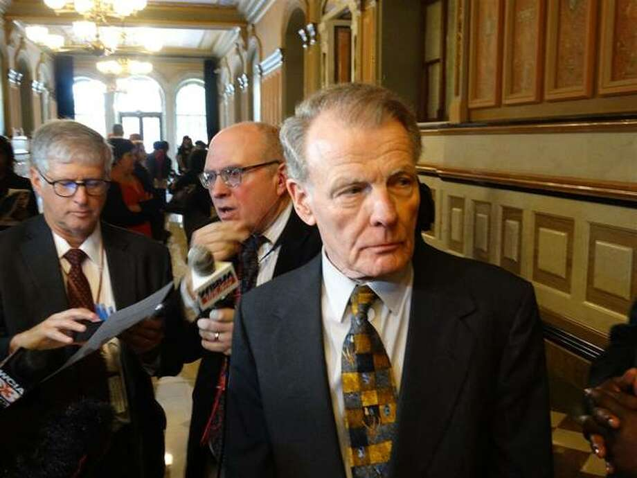 """House Speaker Michael Madigan is shown in this Oct. 28, 2019, file photo at the Capitol in Springfield. Madigan is referred to as """"Public Official A"""" in federal court documents filed Friday in which ComEd agreed to pay $200 million to resolve a federal investigation into a """"yearslong bribery scheme."""""""