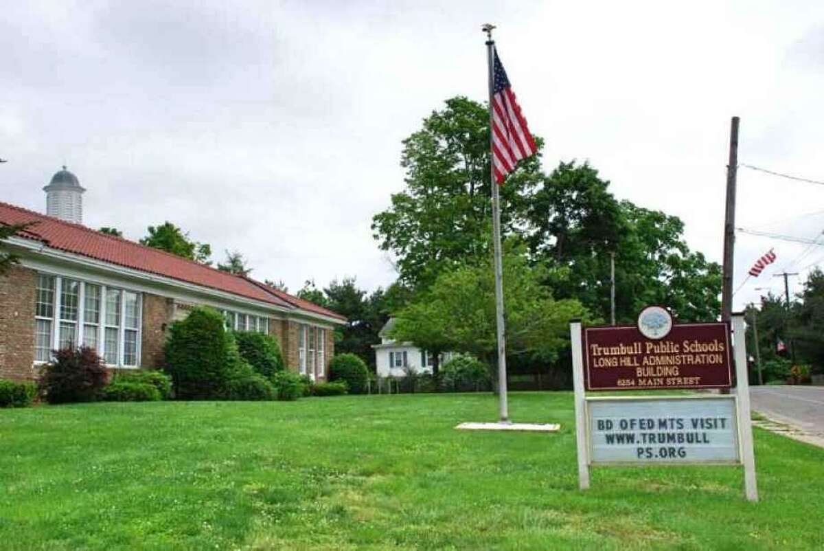 Trumbull public school building. The town is considering later starting times for schools