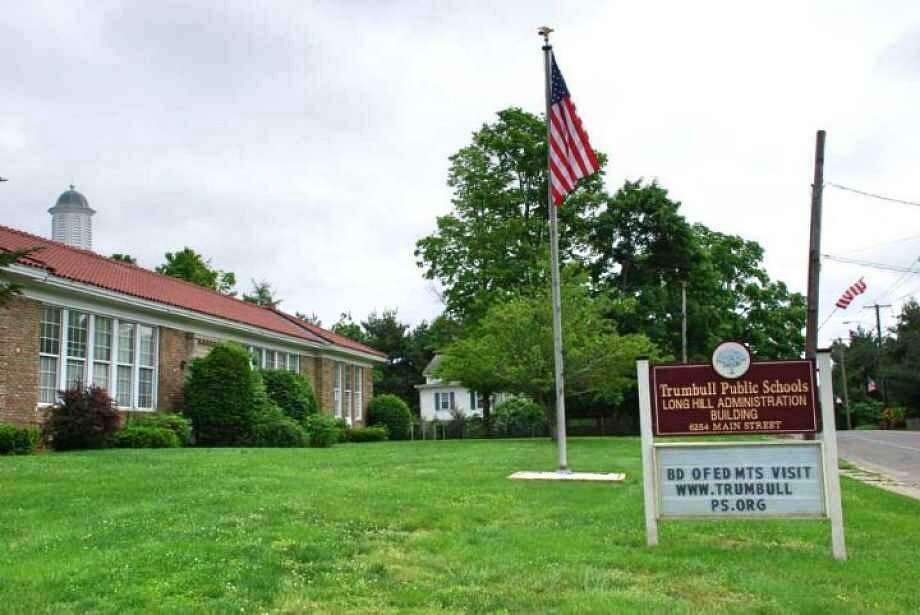 Trumbull public school building. The town is considering later starting times for schools Photo: Contributed