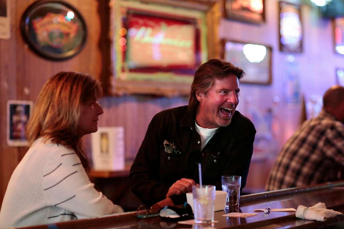 Tom Peden of Sebastopol talks to a bartender at Gale�s Central Club in Petaluma, California, Saturday, June 27, 2020.