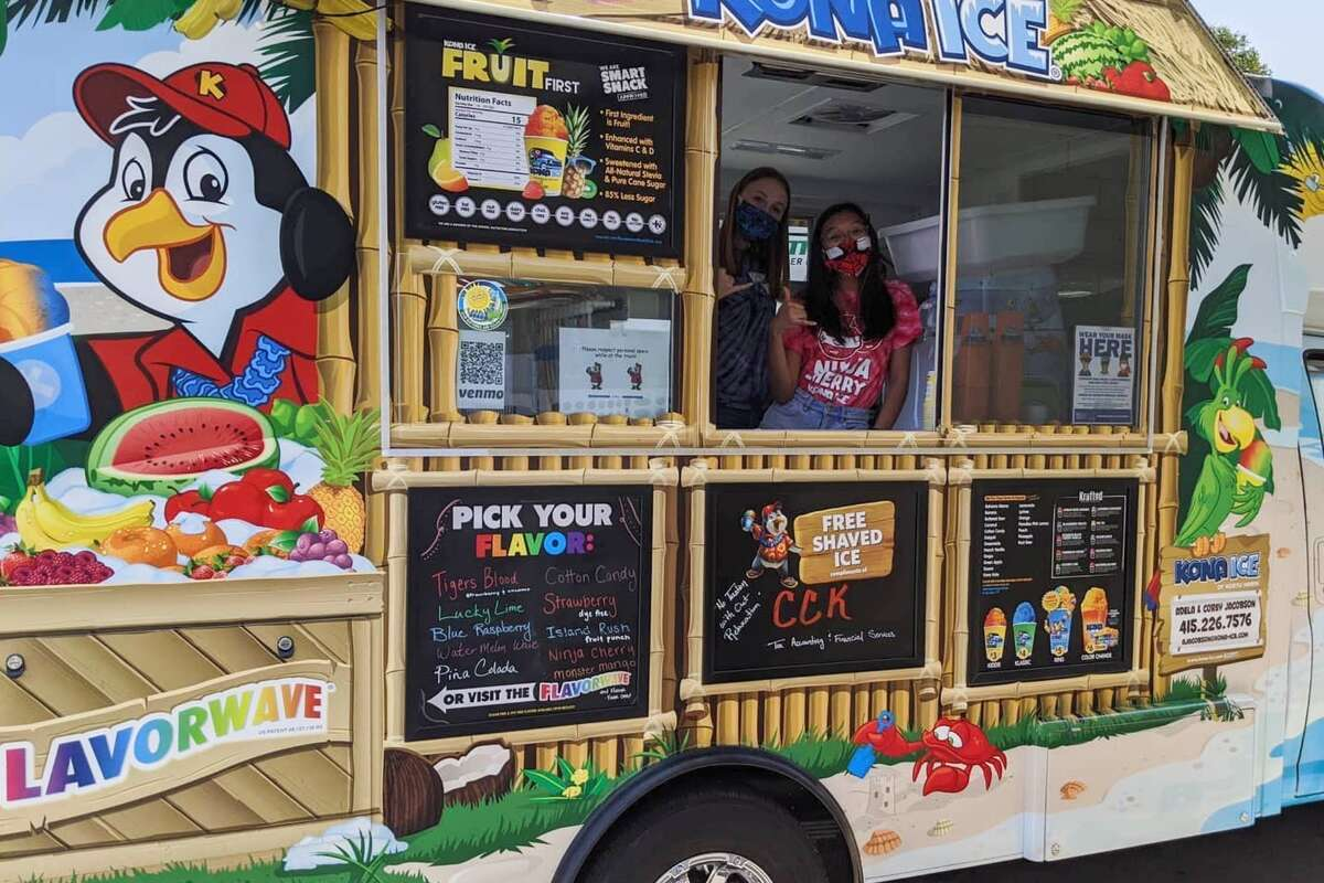 Kona Ice of North Marin has shifted its business to delivery. Now, its trucks visit individual customers who place orders through an app called, Curbside Kona.