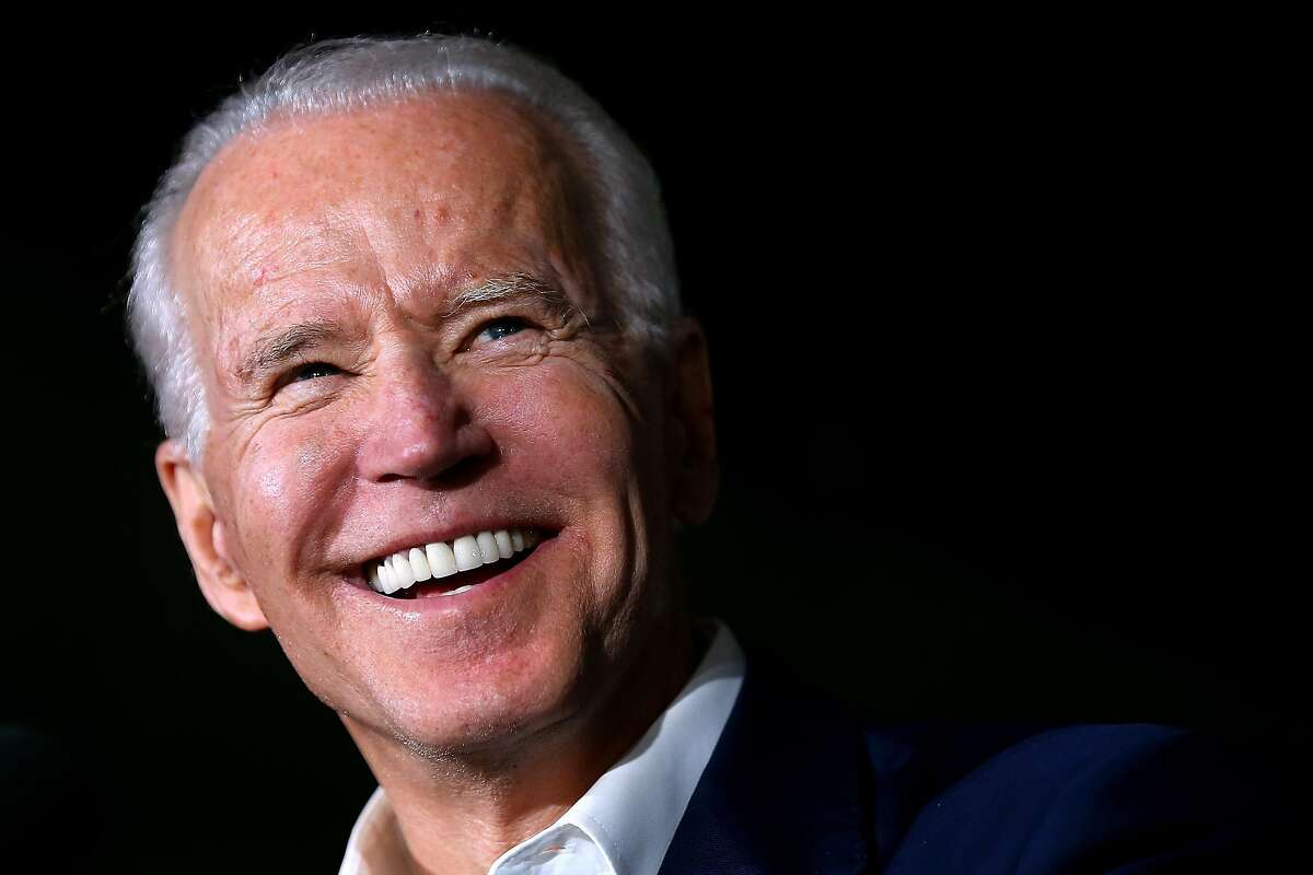 TOUGALOO, MISSISSIPPI - MARCH 08: Democratic presidential candidate former Vice President Joe Biden reacts while giving a speech during a campaign event at Tougaloo College on March 08, 2020 in Tougaloo, Mississippi. Mississippi's Democratic primary will