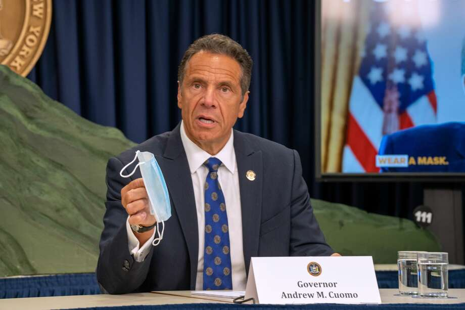 New York Governor Andrew Cuomo speaks during a COVID-19 briefing on July 6, 2020 in New York City. Photo: David Dee Delgado/Getty Images / 2020 Getty Images
