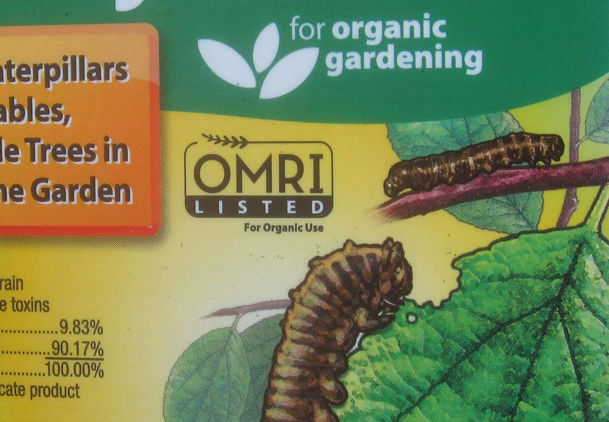 """The OMRI logo indicates the product is compliant with the National Organc Program rules. A label may also say """"for organic gardening."""""""