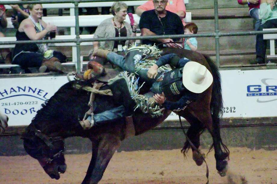 Some traditional parts of the Pasadena Livestock Show and Rodeo, such as the saddle bronc riding competition, won't happen this year because of the novel coronavirus pandemic. / Internal