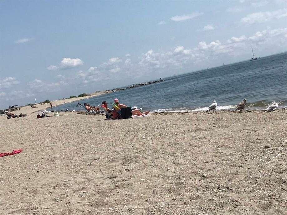 Compo Beach on Saturday, Aug. 3, 2019. Photo: Jordan Fenster / Hearst Connecticut Media