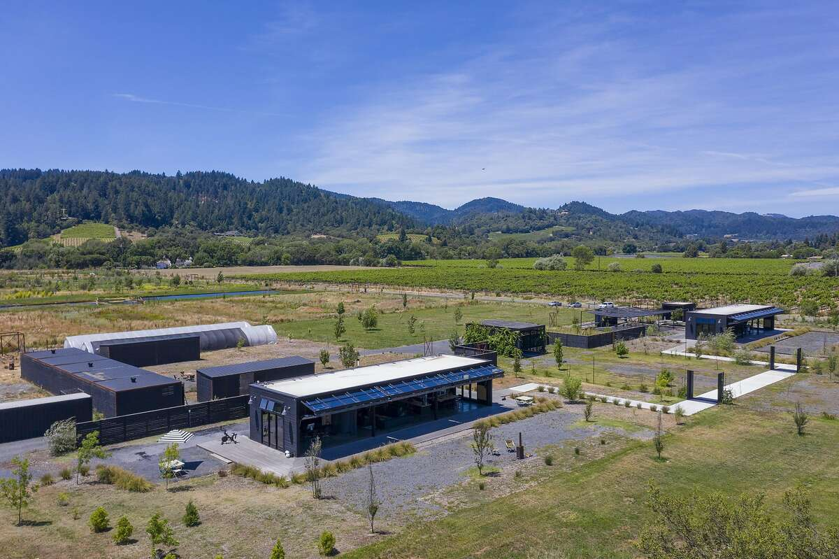 A property at 2836 Dry Creek Rd. in Healdsburg's Wine Country is up for auction on July 29, 2020. The property, now known as Noci Healdsburg, includes an edible garden that the sellers operated as a self-pick farm.