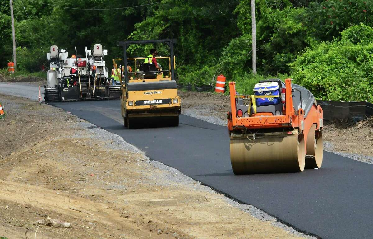Construction for the Electric Trolley trail is seen near Forrest Dr. on Friday July 10, 2020 in East Greenbush, N.Y. (Lori Van Buren/Times Union)