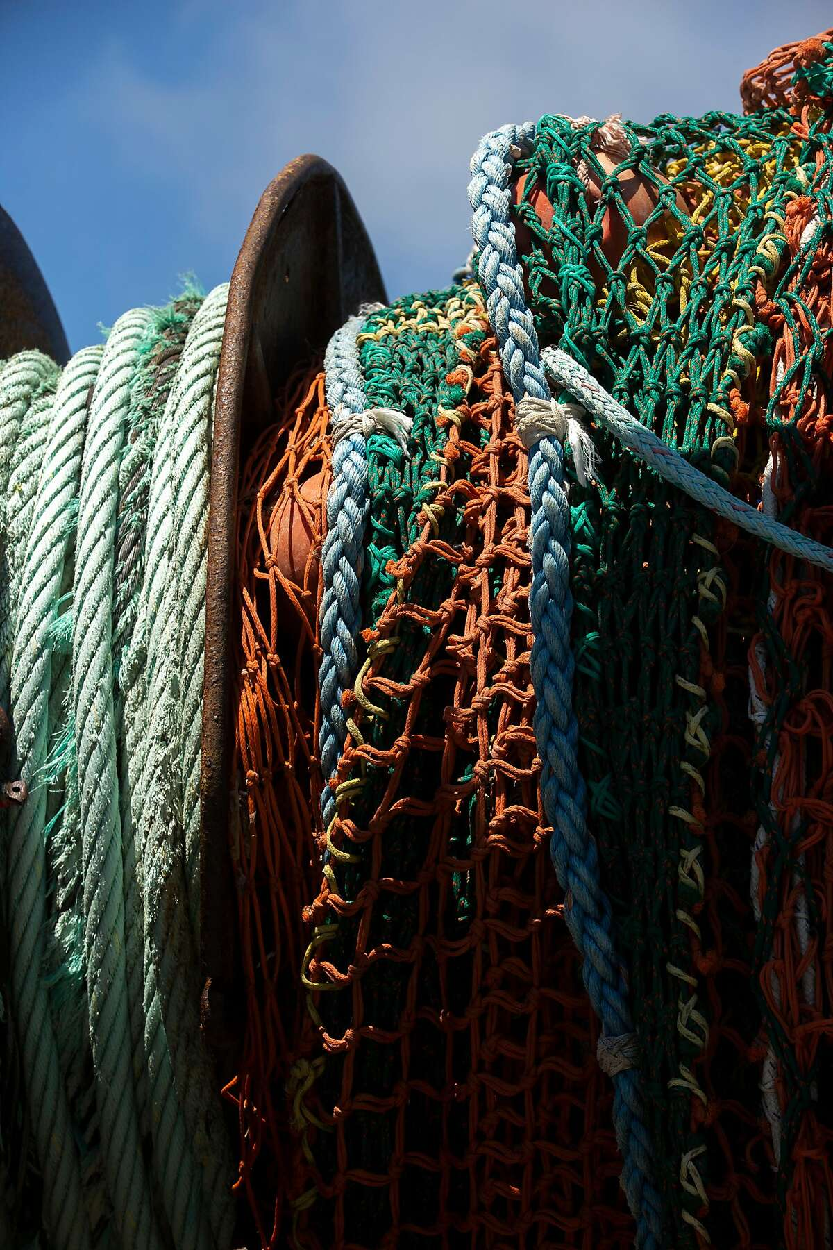 The Pioneer fishing boat�s trawl net on Friday, July 17, 2020, in San Francisco, Calif.